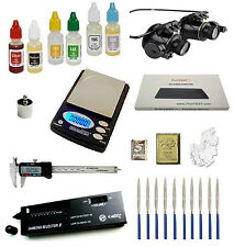 Gold Acid Test Kit + Electronic Diamond Tester + Digital Scale Glasses Calipers
