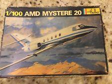 Heller 1/100 AMD Mystere 20 Model Kit Vintage ORIGINAL ISSUE Complete