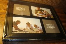 ROSEMERE Multi-Photo 4x4 (2) + 4x6 (2) PHOTO FRAME Hanging/Standing BLACK  New