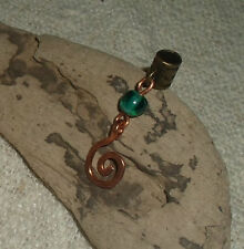 ONE Dreadlock Bead Copper Spiral Dread Jewellery Hair Jewelry Dangle Cuff Charm