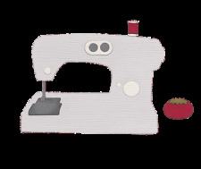 QuicKutz Lifestyle Crafts 4X4 Single Die SEWING MACHINE Clothes  REV-0211-S