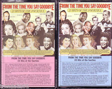 From Time You Say Goodbye 2 Cassette Classic 40s TEX BENEKE ELLA FITZGERALD