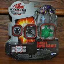 Bakugan Gundalian Invaders Super Assault Bakuvice Clawsaurus Green Ventus NEW