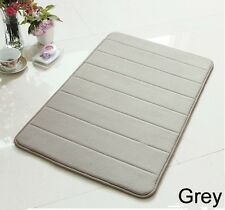 "24"" Non-Slip Back Rug Soft Bathroom Carpet Memory Foam Bath Mat Gray New"