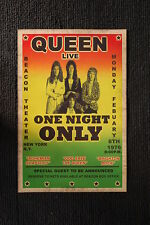 Queen 1977 Tour Poster New York City
