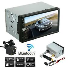 Double 2 Din Touch Screen Car MP5 Player Car Stereo Radio Bluetooth + Camera UK