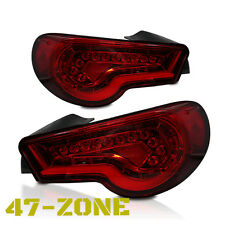 High Quality RED lens Led Tail Lights fit 12 up Scion FR-S FRS Subaru BRZ