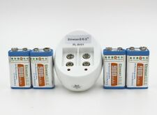 4 pcs etinesan 900MAH Li-Ion 9V 8.4v lithium rechargeable battery +charger