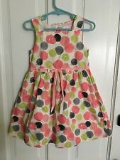 "JANIE & JACK GIRLS ""LITTLE ARTISTE"" POLKA DOT DRESS Sz 2T EUC"