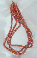"""RED SPINY OYSTER 6MM BUTTON/RONDELLE BEADS -  ONE (1) 16"""" STRAND"""