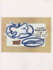 """1989 VINTAGE """"G. BRAQUE MAEGHT"""" PALETTE MOURLOT MINI POSTER COLOR Art Lithograph"""