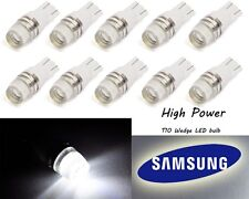 10pcs T10 Wedge Samsung High Power 1W LED Light Bulbs Xenon White 192 194 168