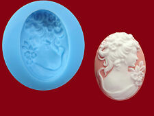 Lady Cameo Silicone Mould, Sugarcraft, Cake Toppers, Jewellery, Food Safe
