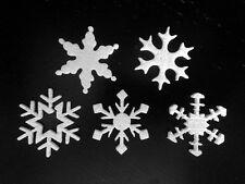 Mini stelle fiocchi di neve polistirolo 5cm decoro casa vetrine Natale - 300pz