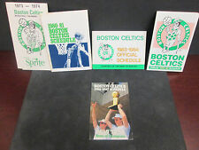NBA- BOSTON CELTICS 4 CHAMPIONSHIPS SCHEDULES 1974-1981-1984-1986 W/87 & BIRD
