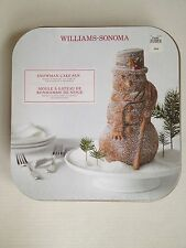 Williams Sonoma Nordic Ware 3D Snowman Cake Pan Baking Holiday Mold NWT