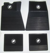 1961-1975 Buick Floor Mats. Black with Tri-Shield