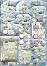 New Baby NO CUTTING Die Cut Dufex 3d Decoupage Card Making Paper Craft