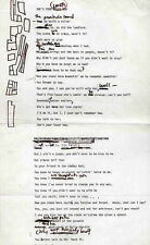 BOB DYLAN REPRO 1966 - SHE'S YOUR LOVER NOW - HANDWRITTEN LYRICS . NOT CD DVD