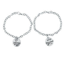 Lux Accessories Silver Tone To Infinity And Beyond BFF Charm Bracelets