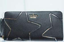 Kate Spade Dolan Street Lacey Black Wallet Zip Clutch Bag Leather NWT