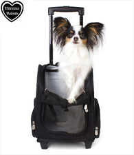 Valentina Valentti deluxe pet, dog travel carrier chariot sac à dos noir, grand