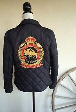 RALPH LAUREN Quilted Reversible  Equestrian Switzerland Polo Winter Cup Jacket M