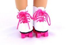 """Pink Roller Skates Fits 18"""" American Girl Doll Clothes Shoes"""