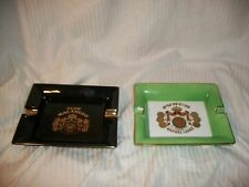 Vintage Punch Manuel Lopez & Club Macanudo  Ceramic Cigar Ashtrays Very Cool VGC