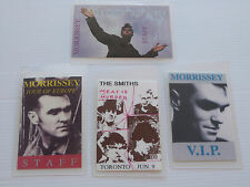 MORRISSEY/THE SMITHS - Collection of FOUR Laminated Backstage Tour Passes (X4)