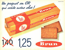 PUBLICITE ADVERTISING 015  1962  BRUN   biscuits petit beurre THE