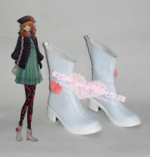 Amnesia Heroine White Halloween Short Cosplay Shoes Boots H016