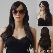60-100cm Women Cosplay Wig Long Straight Wavy Anime Costume Full Wig Pink Purple