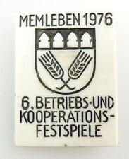 #e2616 DDR Abzeichen Memleben 1976 6 Btriebs- und Kooperations- festspiele