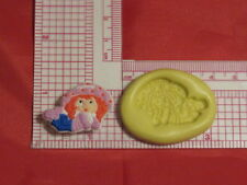 Strawberry Girl Silicone Push Mold Fondant Cupcake 94 Gumpaste Chocolate resin