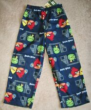 ANGRY BIRDS - Navy Flannel Lounge Pants Pajamas sz 4/5