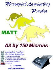 A3 Laminado bolsas 13 Acabado Mate 150 Micron (para una gran iluminación Zona Uso)