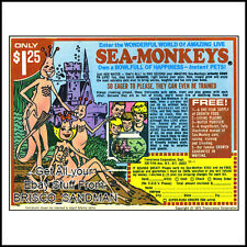 Fridge Fun Refrigerator Magnet SEA MONKEYS RETRO COMIC BOOK AD