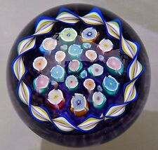 PERTHSHIRE SCOTLAND JOHN DEACONS END OF DAY ROSES MILLEFIORI PAPERWEIGHT