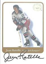2001-02 Fleer Greats of the Game Jean Ratelle Autograph NM
