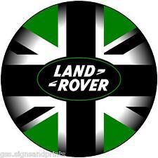 550MM LAND ROVER BLACK, GREEN & WHITE - SPARE WHEEL COVER STICKER