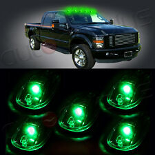 5x Green LED Cab Roof Marker Running Lights For 03-09 Dodage Ram Cleared Lens