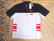 MENS SMALL RED/WHITE/BLUE FITTED FILA L.A. ANGELS POLO SHIRT - NWT