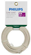 Philips 50' Almond Telephone Line Cord SWL6171H/17 Fax Modem VOIP New RJ11