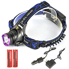 5000LM XML T6 LED Headlamp Linterna Frontal Luz Cabeza  2x18650 UE/Car Cargador