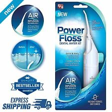 NEW Oral Irrigator Dental Water Jet POWER FLOSS Air Power Flosser Teeth Cleaner