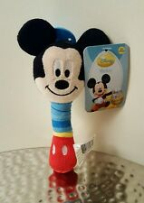 "Disney MICKEY MOUSE BABY RATTLE Plush Toys 6.5"" tall"