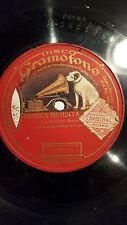 OPERA 78 rpm RECORD Gramofono ENRICO CARUSO Tenor MUSICA PROIBITA Gastaldon