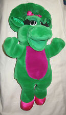 """Barney Baby Bop Puppet Plush 16"""" By Dakin and The Lyons Group 1992 Free Ship USA"""