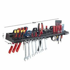 Deluxe Storage Tool Mounting Bar Organizational System Holds Over 60 Tools